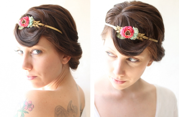 bohemian goddess wedding headband