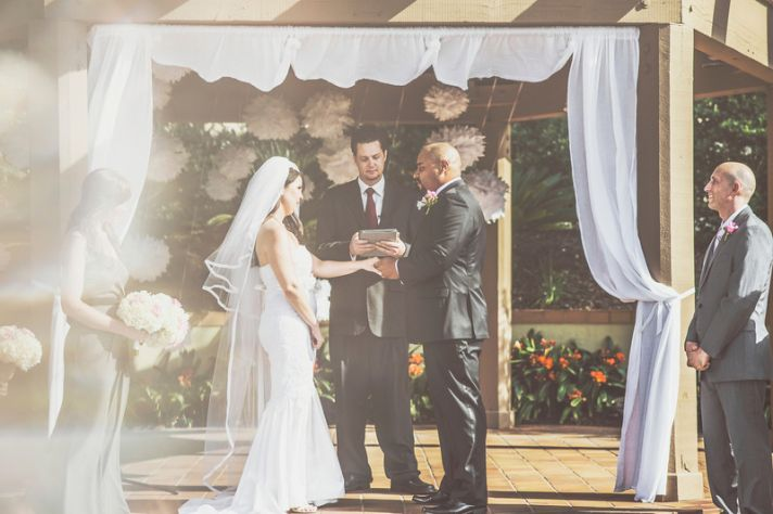 Romantic San Diego Wedding in Summer Ceremony Vows 2