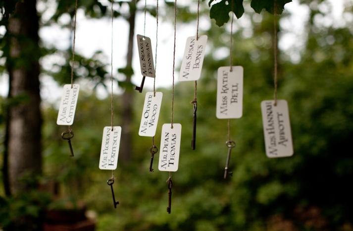 Harry Potter wedding theme whimsical escort cards