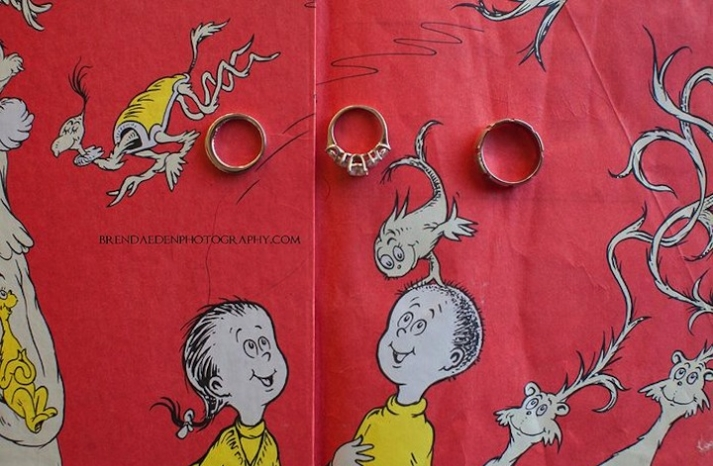 Dr Seuss themed wedding ring photo
