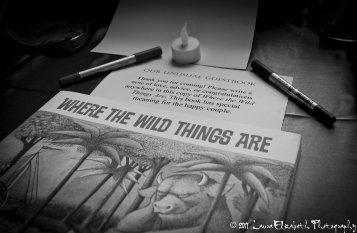 wedding guest book for where the wild things are wedding
