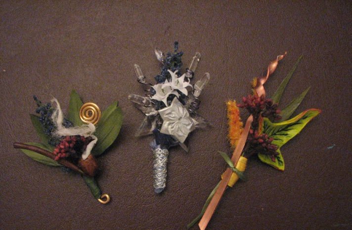 Lord of the Rings Inspired wedding boutonnier