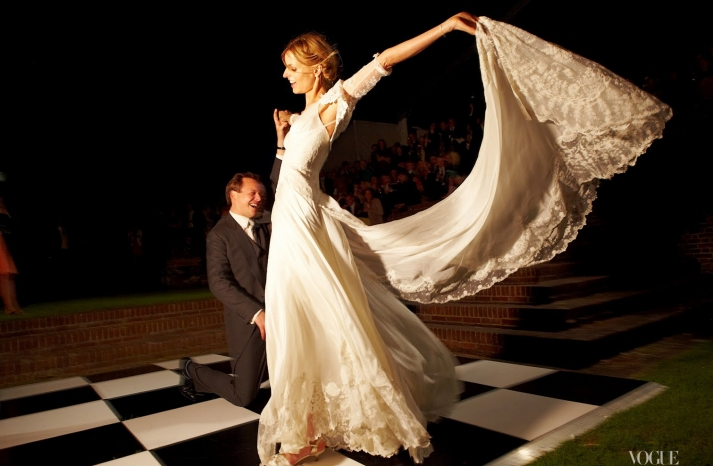 Jacquetta Wheeler celebrity wedding First Dance