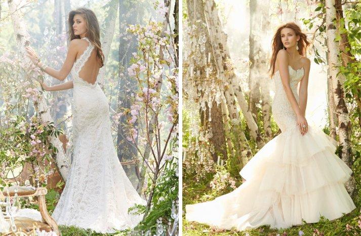 Jim Hjelm Bridal Fall 2013 wedding dress lace open back