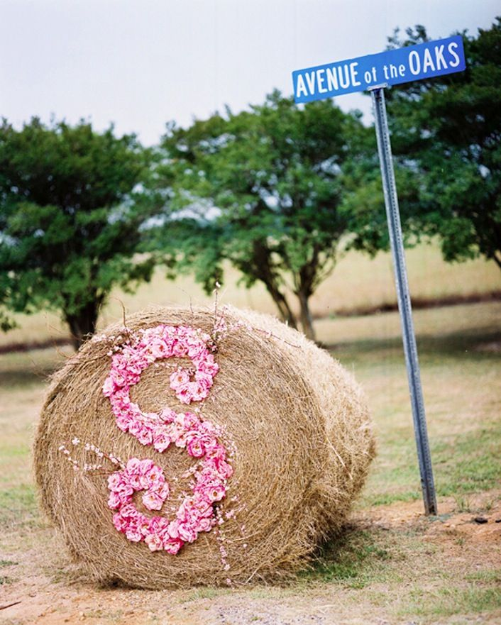 Rustic romance wedding monogram display