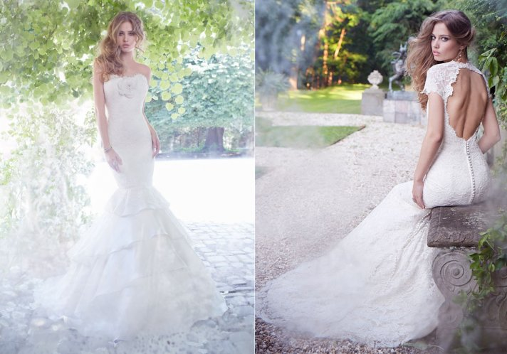 Fall 2013 wedding dress by Alvina Valenta editorial 1