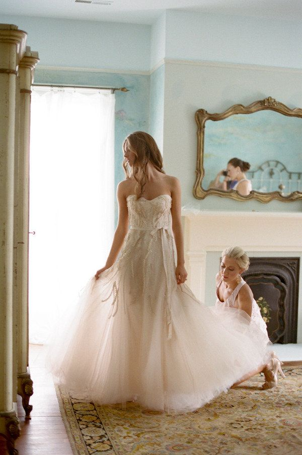 Real bride wears Candy wedding dress by Monique Lhuillier