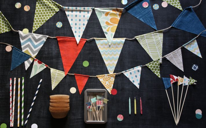 DIY bunting kit for weddings on Etsy