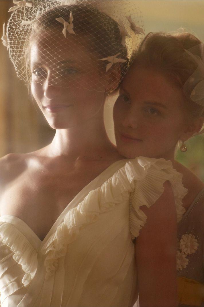 Ribboned Silk BHLDN wedding dress