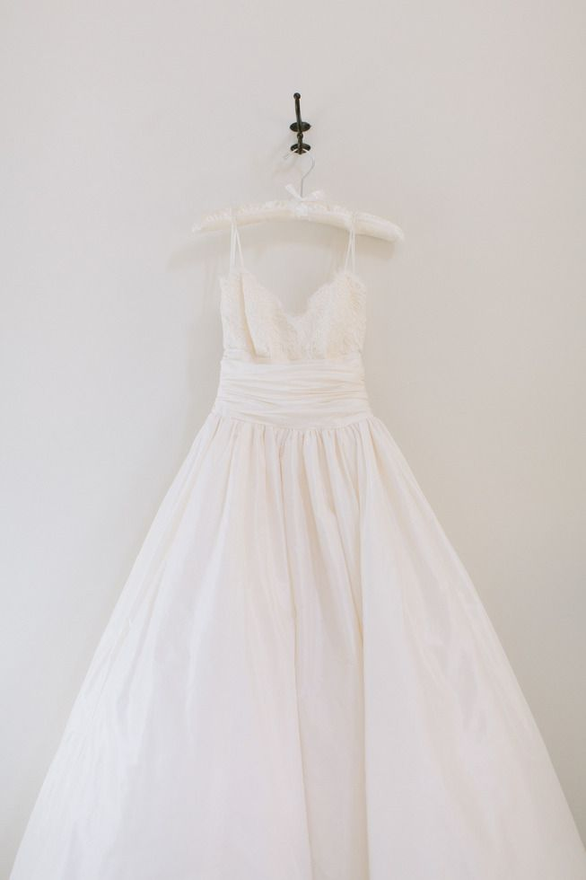 Amsale Coco wedding dress on classic bride