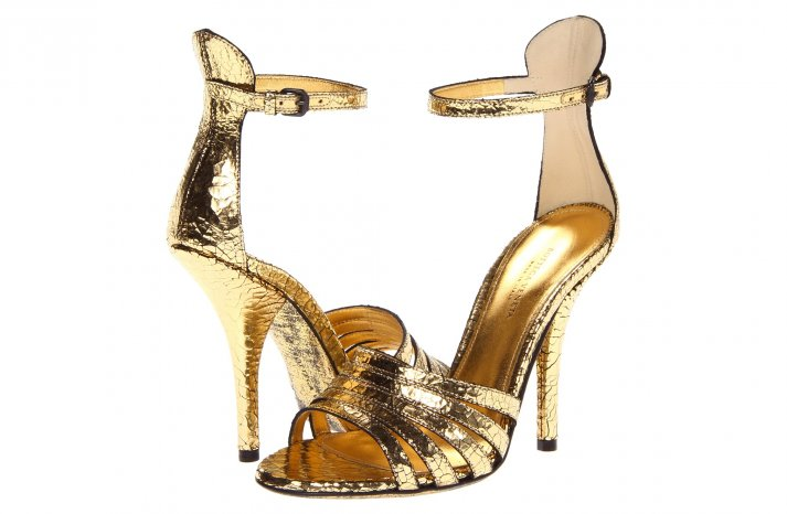 Glamorous gold wedding shoes Bottega Veneta