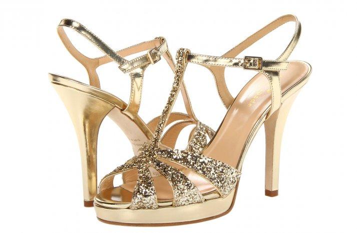 Glamorous gold wedding shoes Kate Spade Rosie