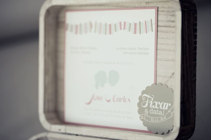 Romantic boxed interactive wedding invitation