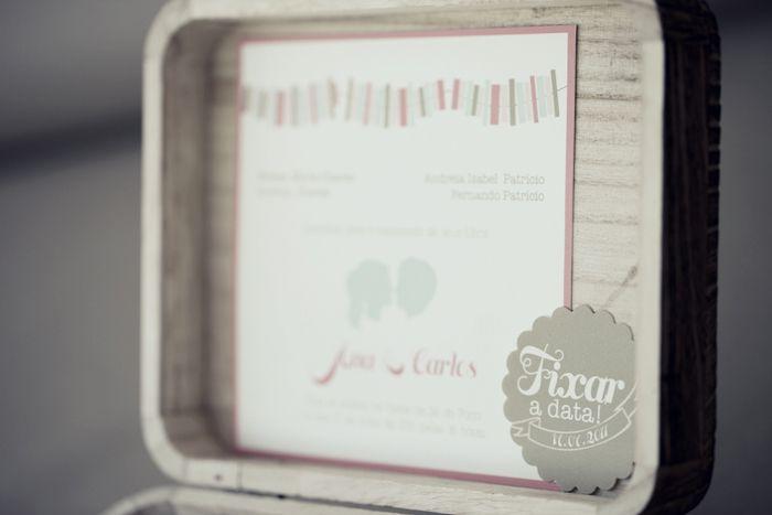 Romantic boxed interactive wedding invitation