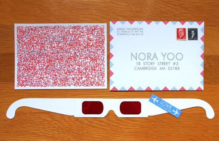 red white blue wedding decoder invitations