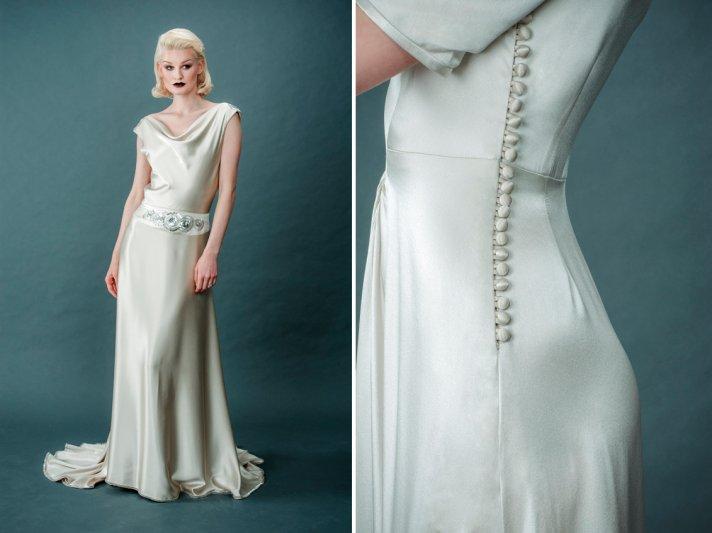 Vintage Wedding Dresses Designer 90 Marvelous Sleek silk wedding dress
