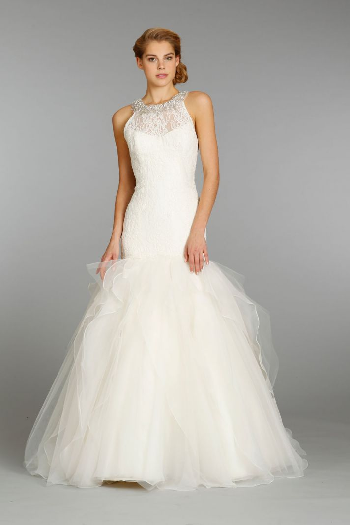 13 beautiful new wedding dresses from jim hjelm onewed for Jim hjelm wedding dresses