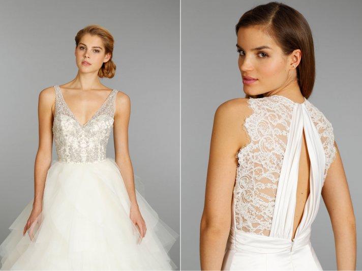 wedding dress by Jim Hjelm 2013 bridal lace statement back