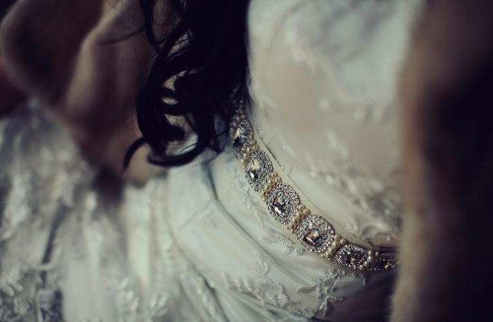 pearl and crystal beaded wedding sash