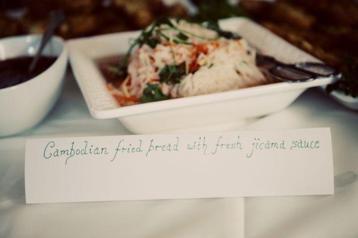Chopsticks wedding favors at cultural Santa Fe reception
