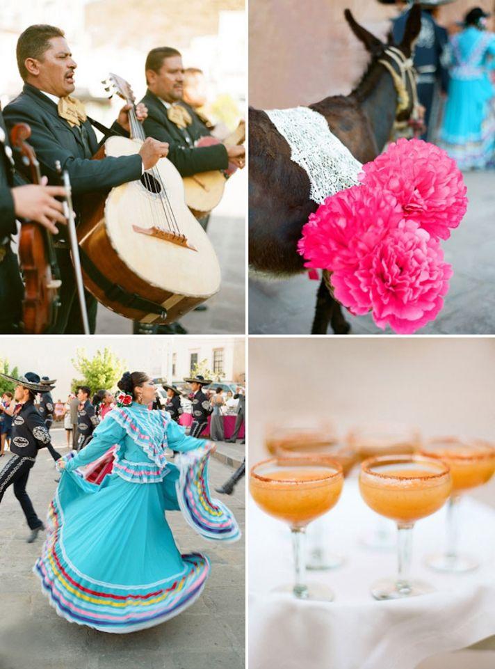 Bright destination wedding in Mexico by Aaron Delesie cultural reception entertainment
