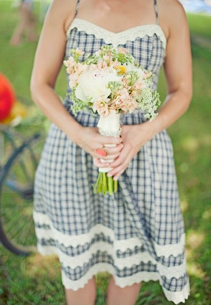sweet gingham bridesmaid dress