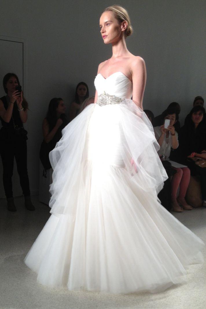 Kenneth Pool 2014 wedding dress tulle ballgown