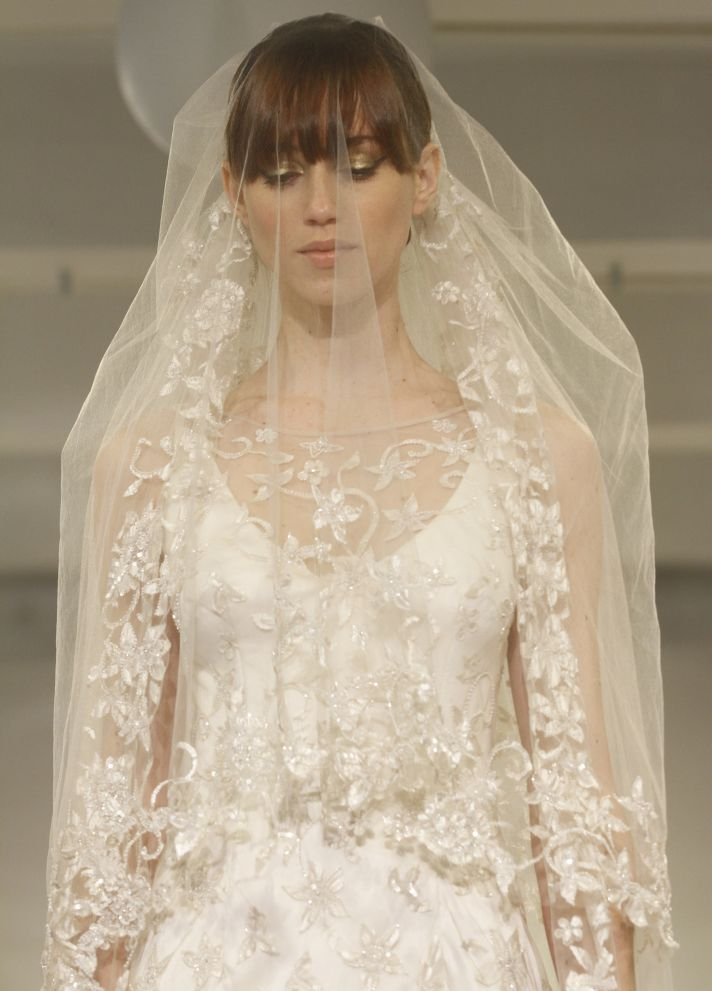 Theia Couture Cora wedding dress with statement veil