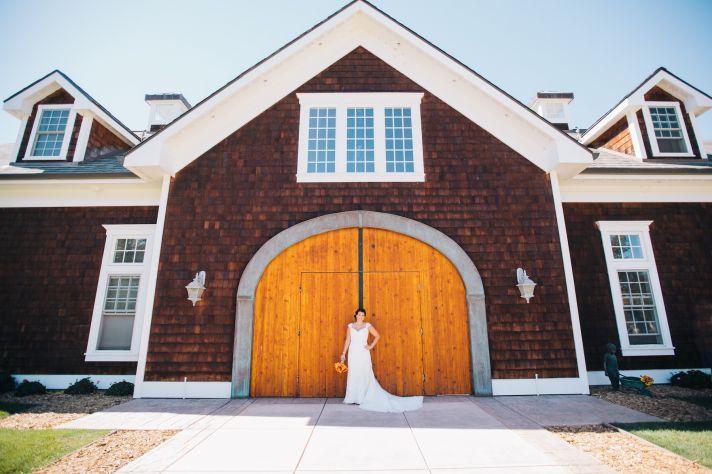 Bride getting ready for ranch wedding in California