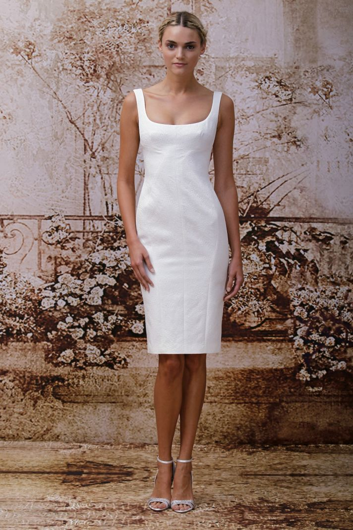 Wedding dress by Monique Lhuillier Fall 2014 bridal Look 2