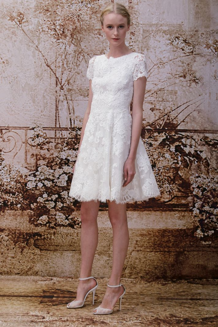 Wedding dress by Monique Lhuillier Fall 2014 bridal Look 7