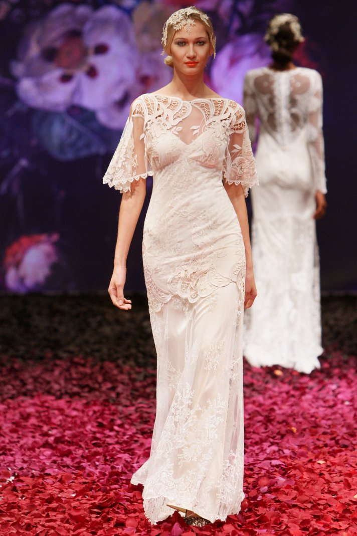 Amaryllis wedding dress by Claire Pettibone 2014 Still Life bridal collection