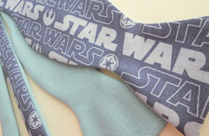 retro star wars bow tie for grooms
