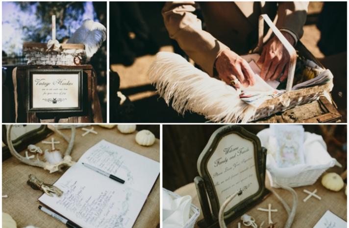 gothic fantasy real wedding ceremony