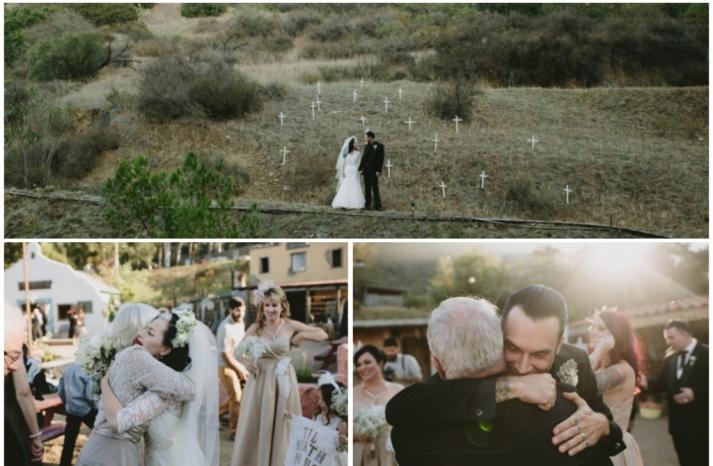 Gothic rock real wedding