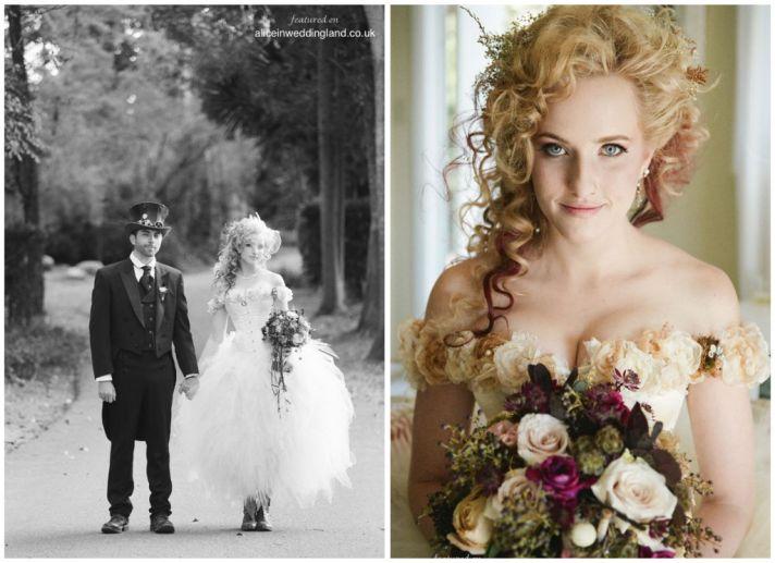 Steam Punk Wedding Dress 38 Superb Steampunk bride wears corset