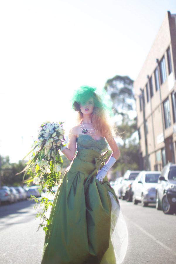 Green on green wedding style