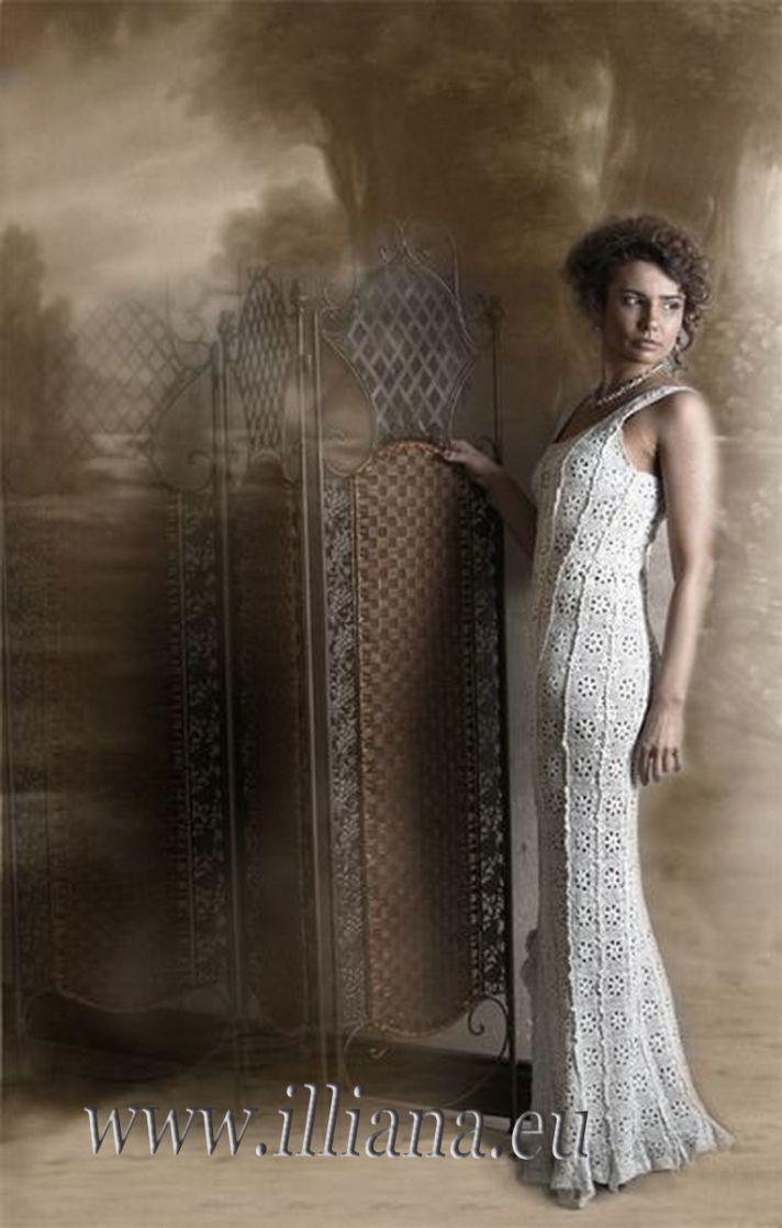 Crochet Wedding Dress Pattern : crochet wedding dress pattern on etsy