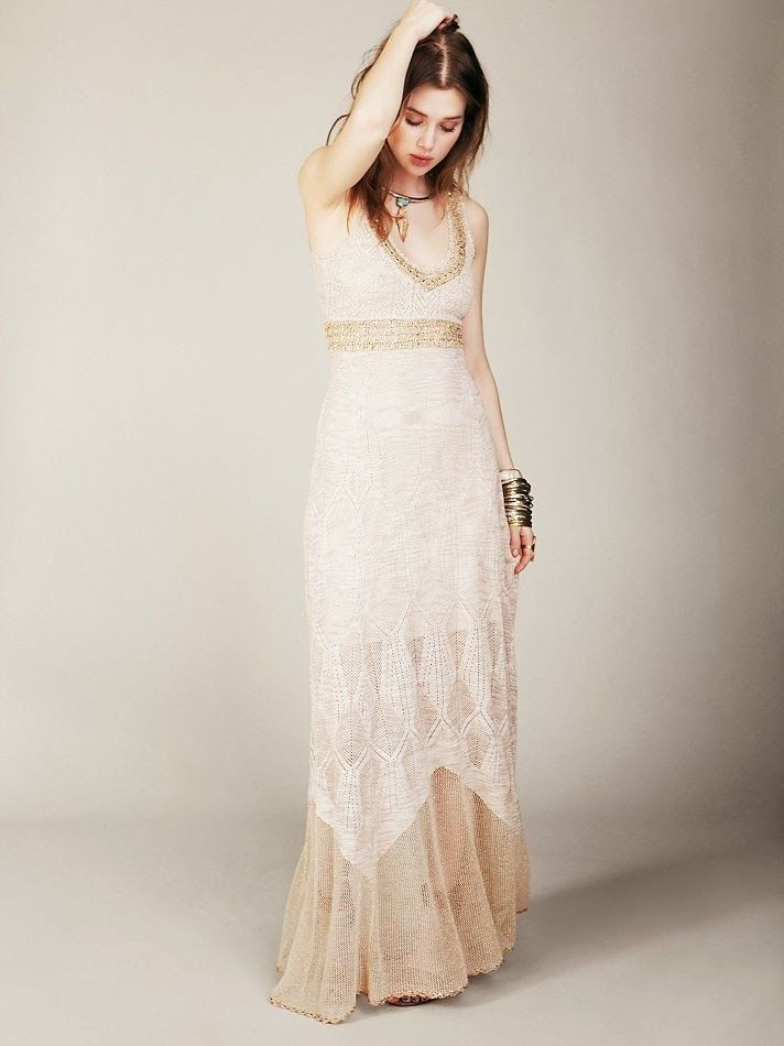 Crochet Wedding Dress Pattern Free Free People Crochet Dress For