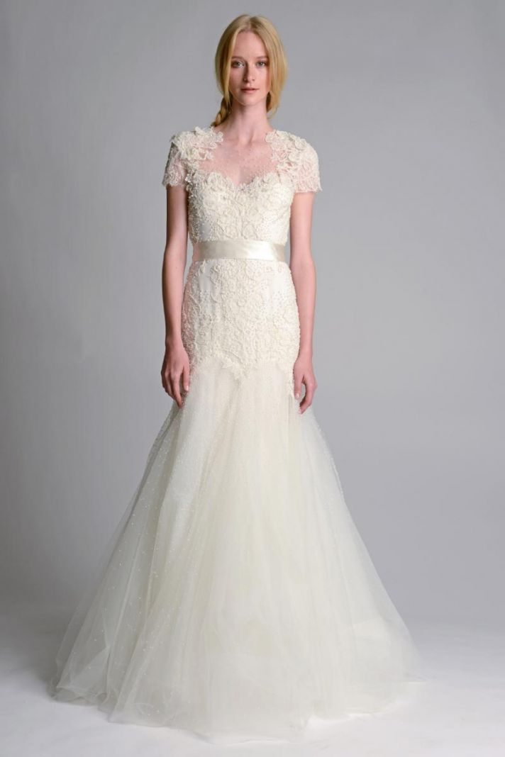 Wedding Dresses For Fall 2014 Wedding dress by Marchesa Fall
