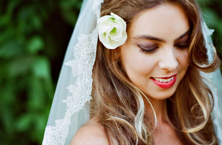 bright bridal portrait by Amelia Strauss Photography