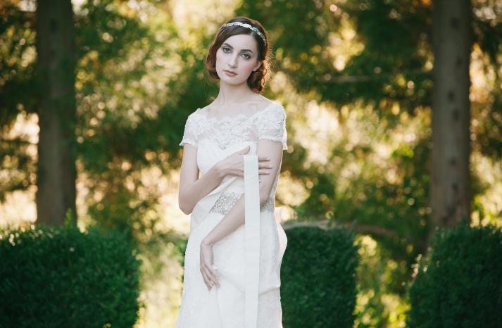 Mademoiselle Headband for brides