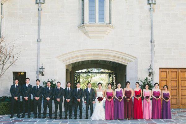 amythest and ruby wedding flowers