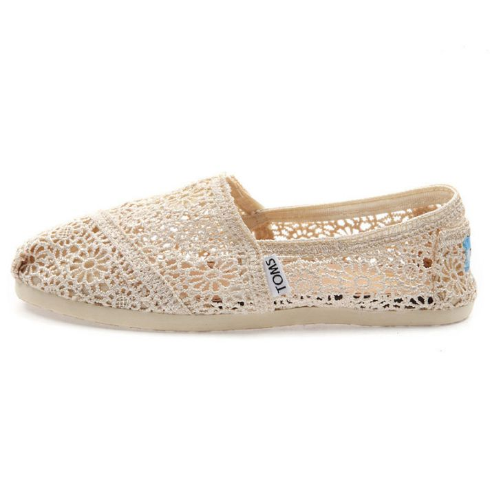 Toms Natural Crochet Womens Classics