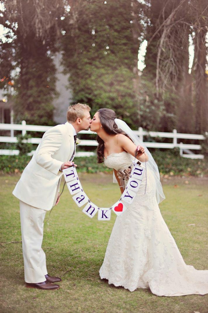 Real Wedding thank you photo