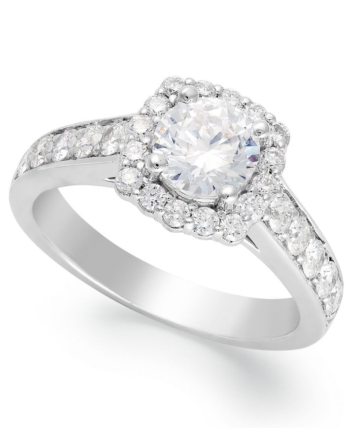 White Gold Multiple Stones Engagement Ring IE2092BWA1