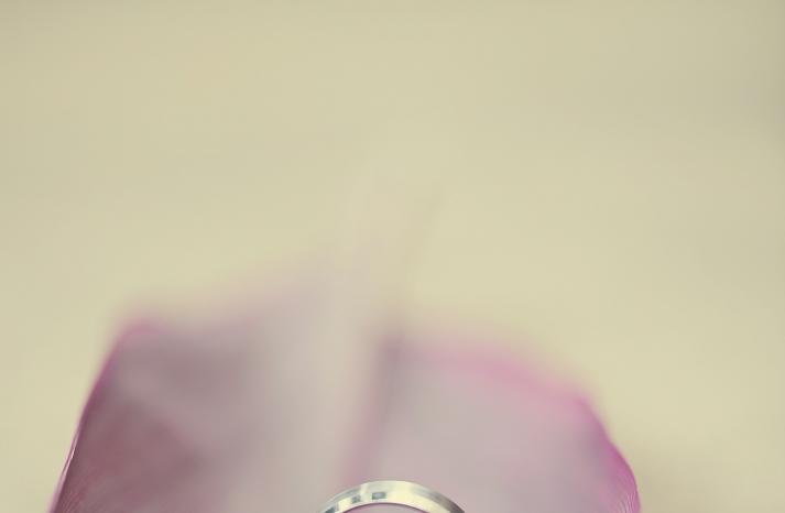Ring shot in a leaf