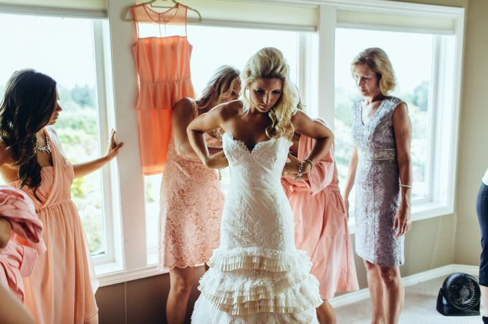 Bride prepping for big day