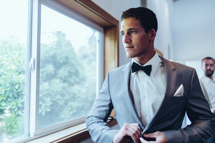Groom prepping for the big day