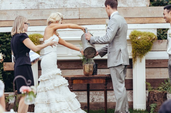 Sand pouring ceremony